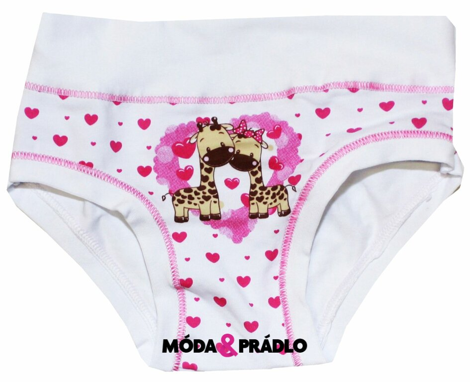 Dívčí obrázkové spodní kalhotky Emy Bimba B1502 žirafy - moda-pradlo.cz d044e72813