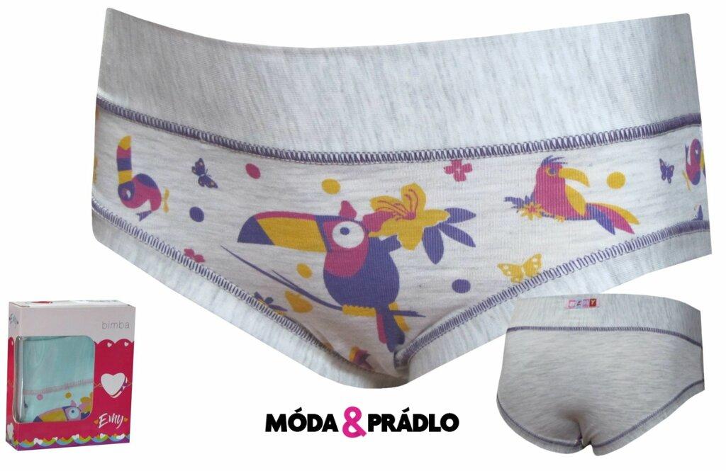 018a10d3a9f Emy Bimba dívčí kalhotky s obrázky B1550 šedé - moda-pradlo.cz