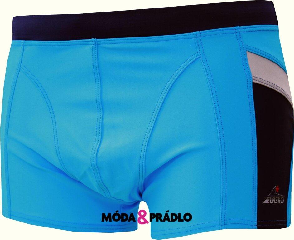 Pánské plavky Elasko 3827 tyrkys - moda-pradlo.cz 16b2fb4563