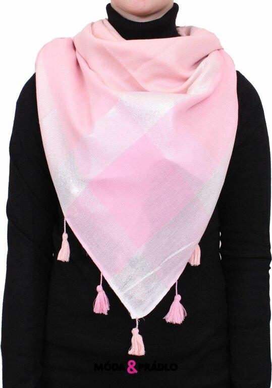 fdbb3ac4c02 Moderní dámský šátek RLC20 pink - moda-pradlo.cz