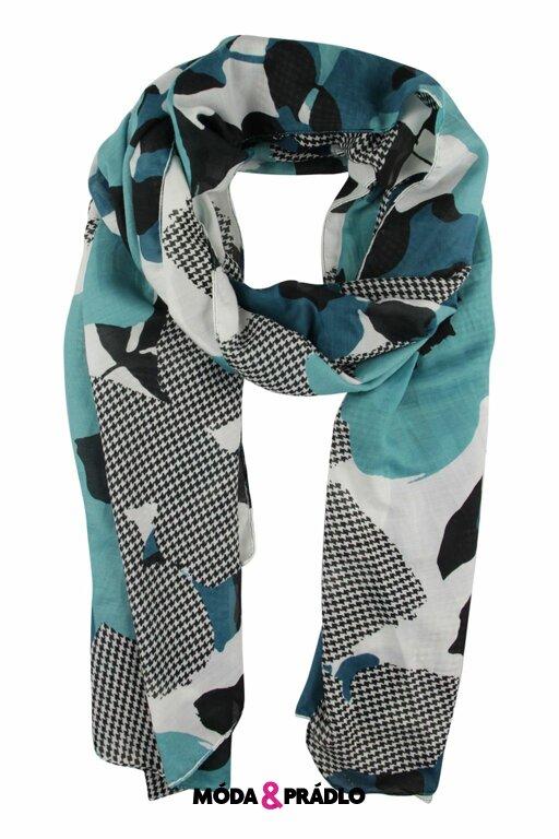 Atraktivní šátek Kenny S.188220 černo-petrol - moda-pradlo.cz e058b10618