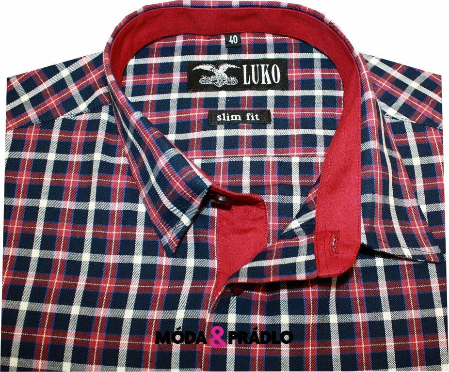 bfa49acfb2ea Pánská košile Luko SlimFit 5446 - červená kostka - moda-pradlo.cz