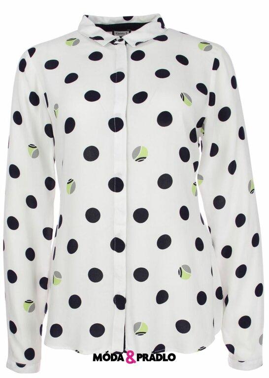 Dámská košile s puntíky Kenny S. 807944 bílá perla - moda-pradlo.cz d6b0d38a3d