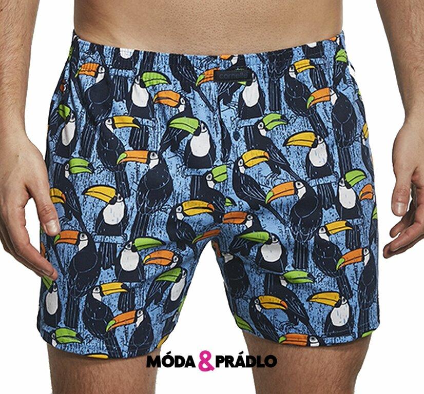 6130878d5 Trenky s obrázky Cornette Classic 001/63 tukan jeans - moda-pradlo.cz