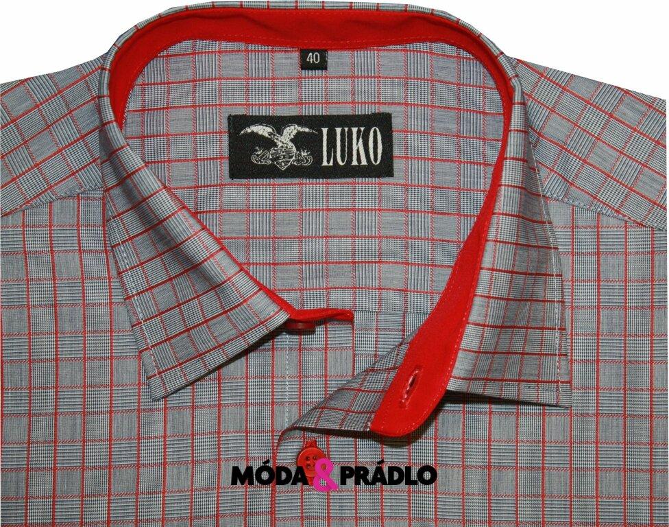 645bfb851bde Pánská košile Luko 144104 - červená kostka červená kostička - moda ...