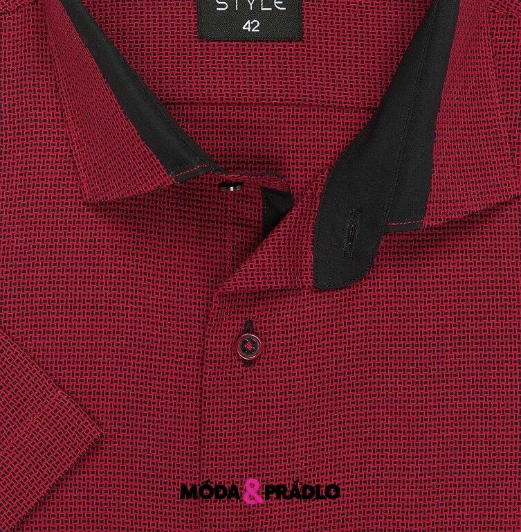 bf92c6f3c0d8 Košile AMJ Style VKZ 886 vínová - moda-pradlo.cz