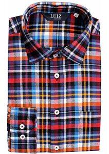 Flanelová košile Luiz Bruno multicolor kostička e580bd34bd