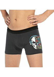 Boxerky pro chlapce Cornette Young Skull2 grafit