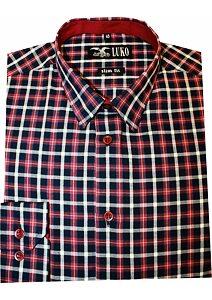 d6efd79a2de0 Pánská košile Luko SlimFit 5446 - červená kostka
