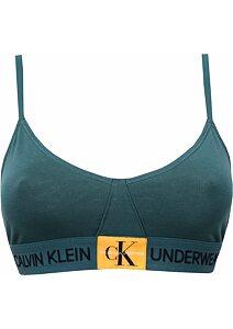b401d89986 Calvin Klein Bralette Unlined Triangle QF4919E tm.zelená