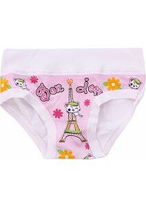 4d0a86c3513 Jednobarevné kalhotky pro děvčátka Emy Bimba B1707 bílé
