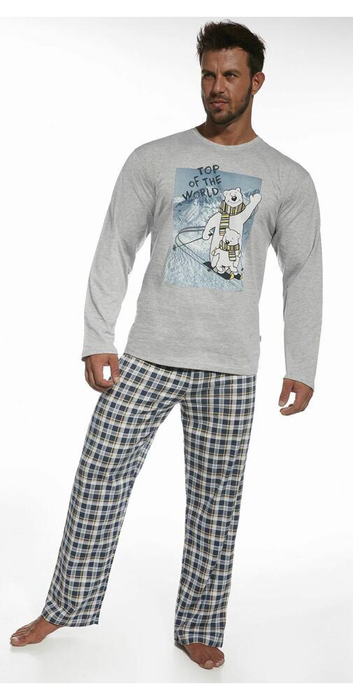 c6e3214cd519 Pánské pyžamo Cornette Top Of The World šedá - moda-pradlo.cz