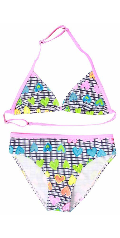 b0fee6ca7 Dívčí plavky Girl pink srdíčka - moda-pradlo.cz