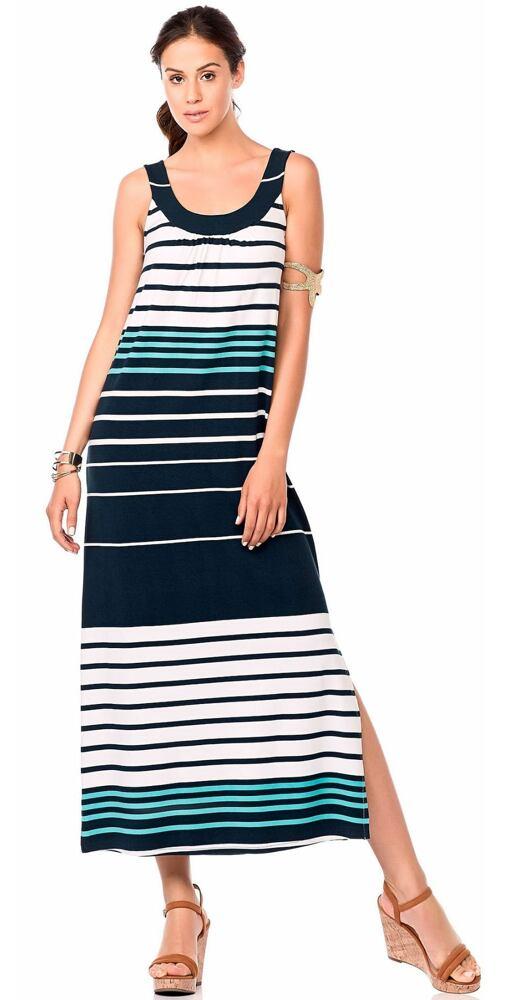 Dlouhé dámské šaty Vamp! 6889 proužek - moda-pradlo.cz 6868d5da6c