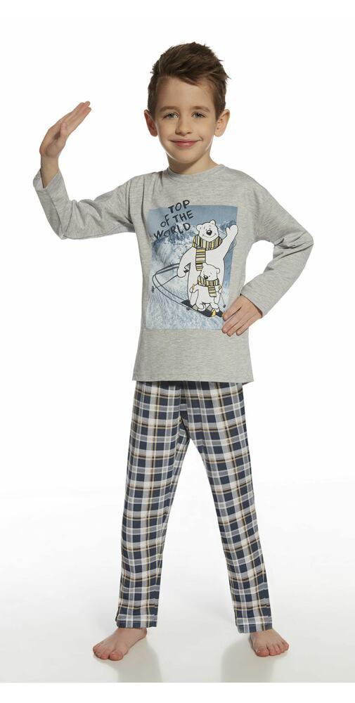 da61e955fbaf Dětské pyžamo Cornette Kids - Top Of The World šedá - moda-pradlo.cz